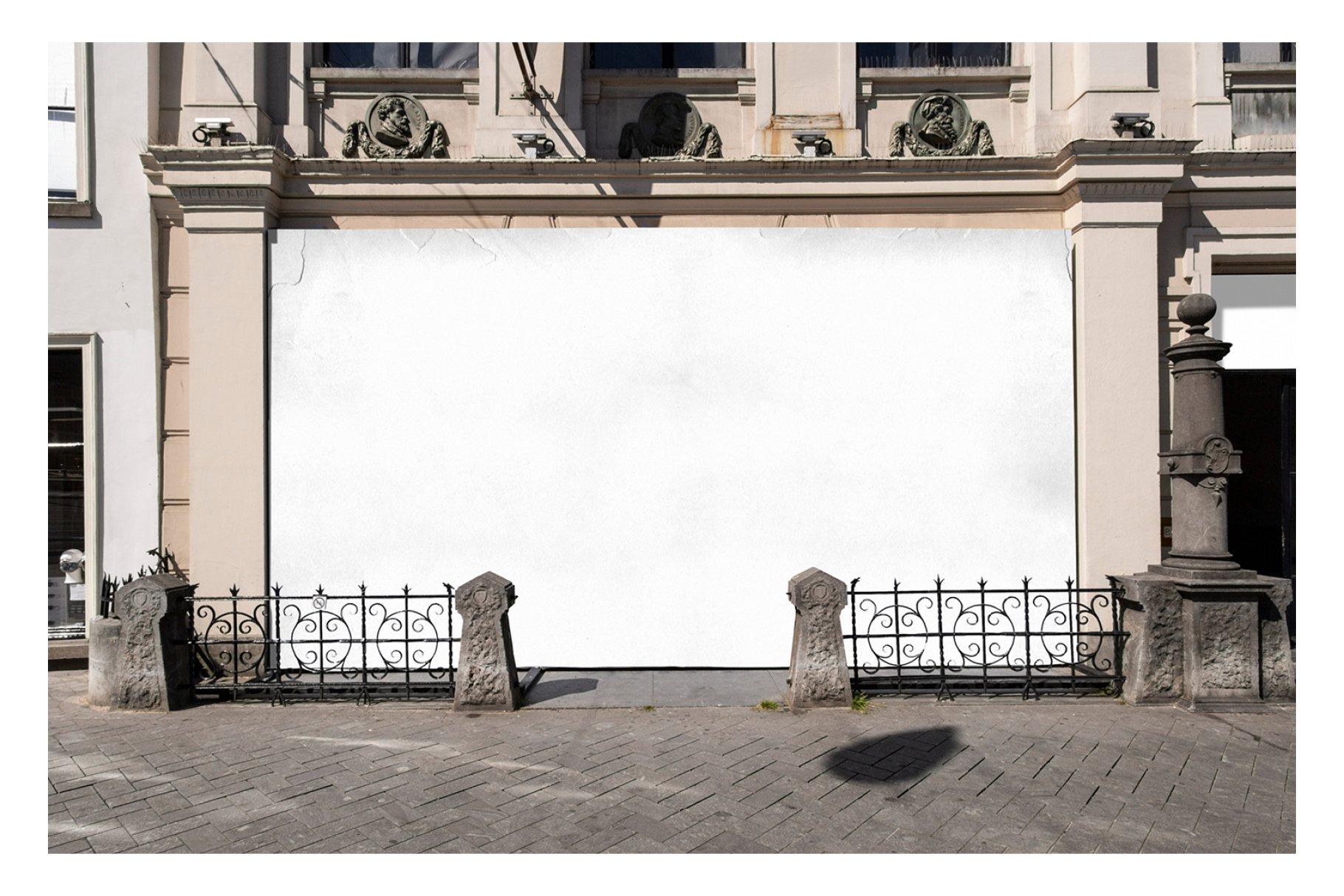 时尚街头店铺外里面橱窗玻璃贴纸广告海报设计展示样机 Shop Facade Mockup Bundle插图10
