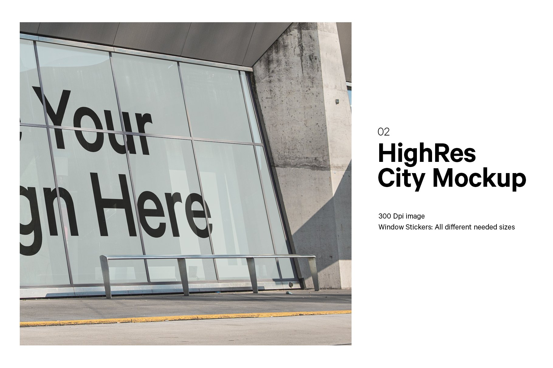 时尚街头店铺外里面橱窗玻璃贴纸广告海报设计展示样机 Shop Facade Mockup Bundle插图3