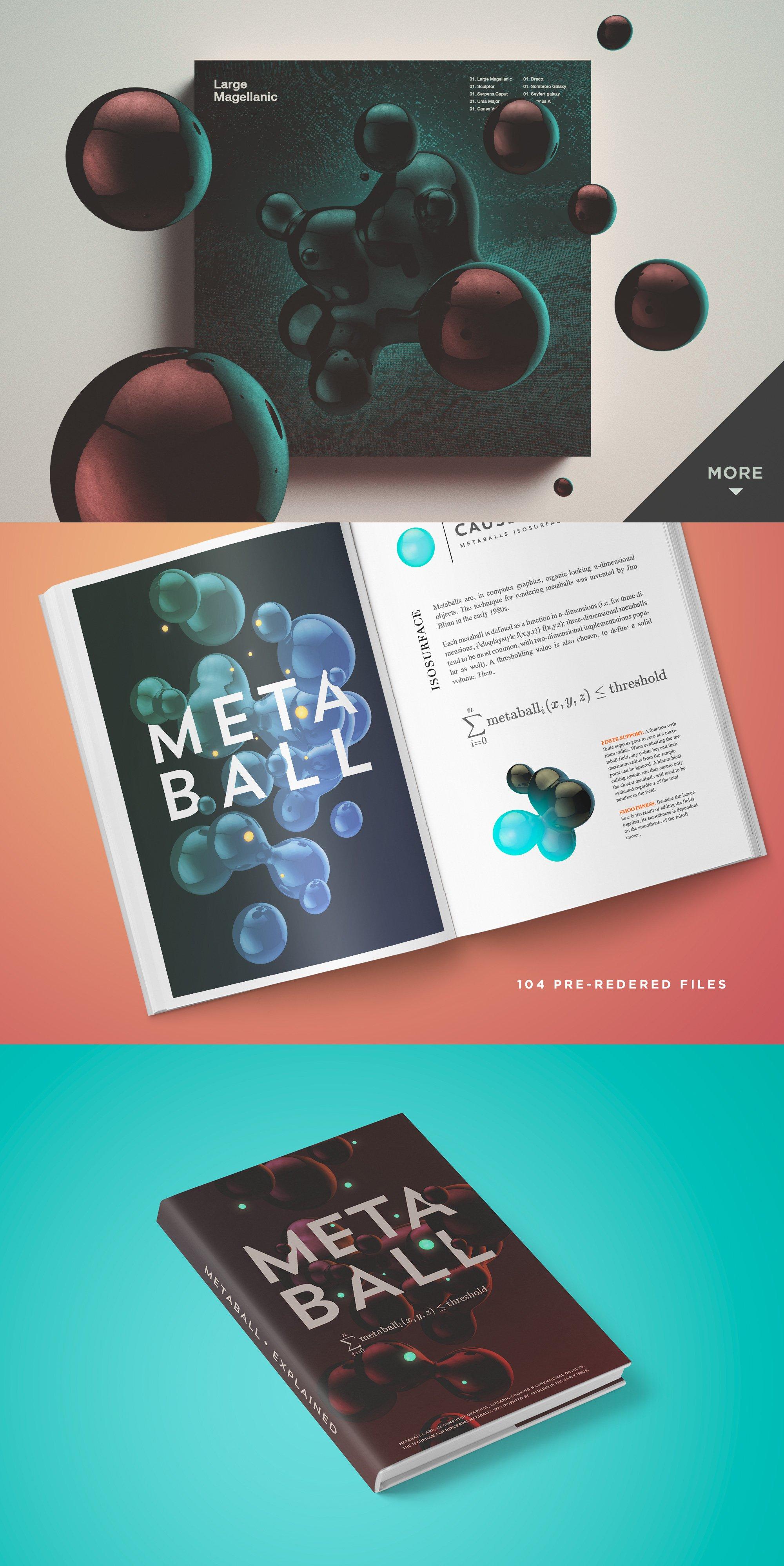 102个高清球体细胞水滴PNG免抠图片设计素材 Rulebyart – Metaball插图2