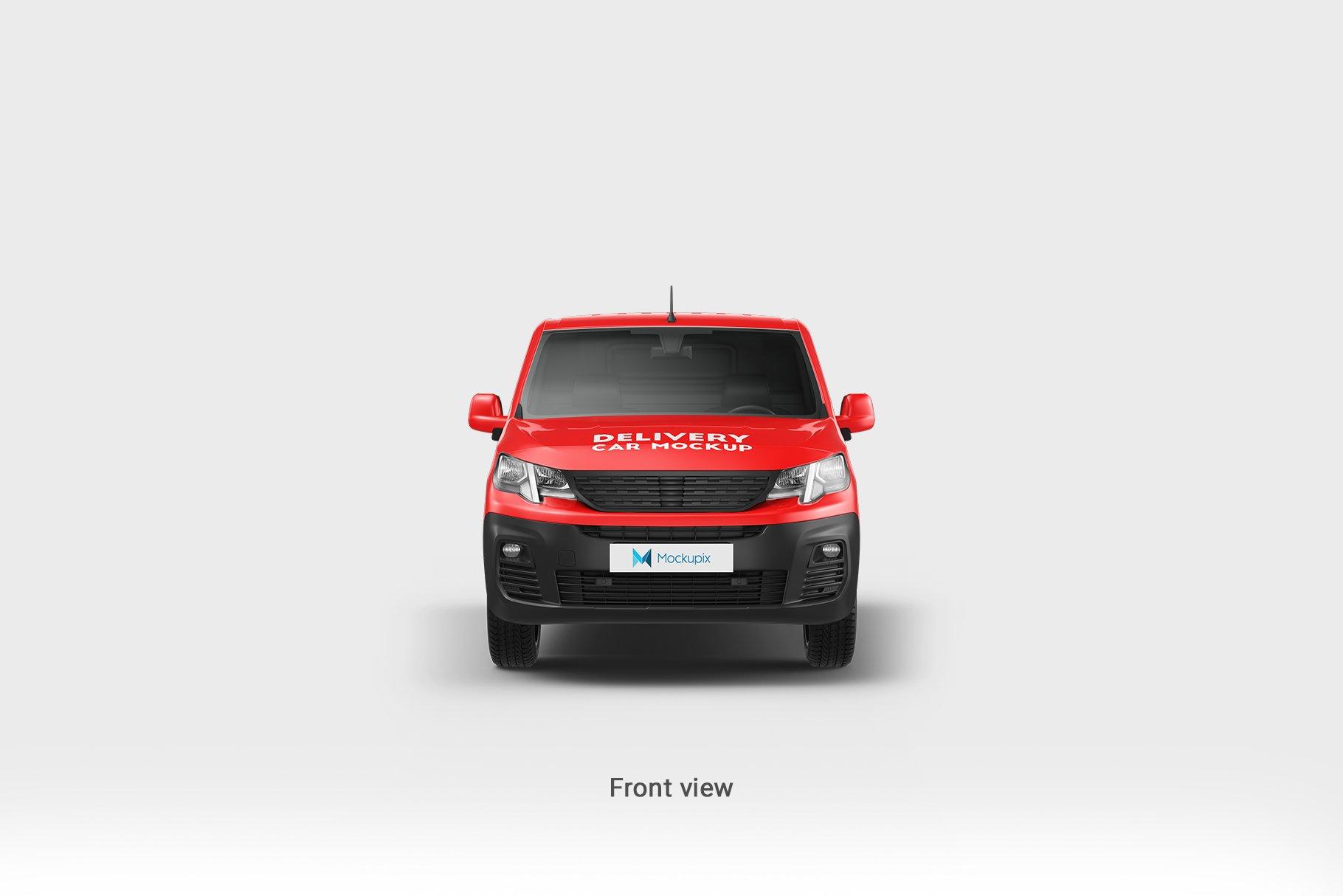 6款送货车面包车车身广告设计展示贴图样机 Delivery Car Mockup 5插图5
