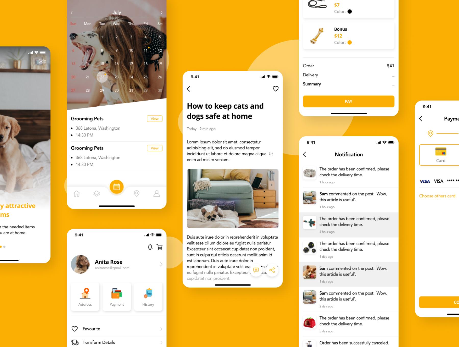 简洁宠物服务APP应用程序设计UI套件 Pedoz – Pet Service App UI Kit插图5