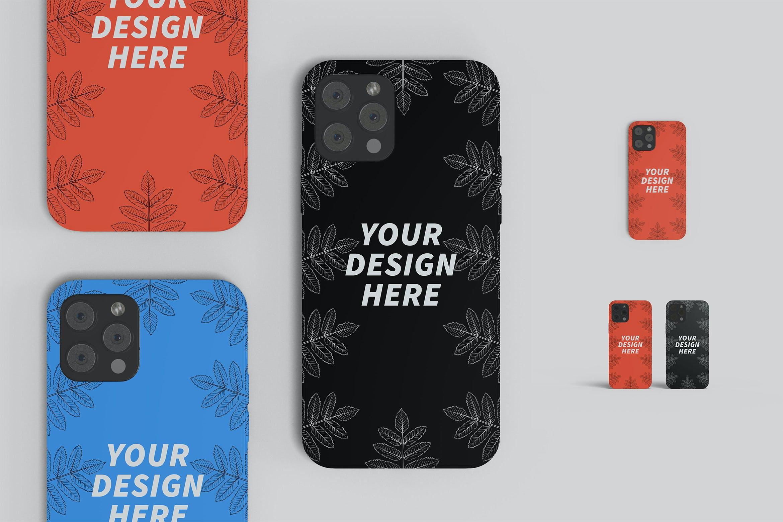 苹果iPhone 12手机壳外观设计PS贴图样机 iPhone 12 Casing Mockup插图