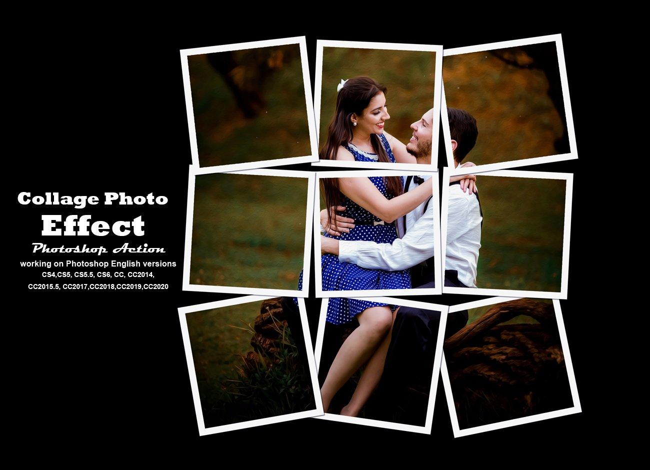 拼贴效果照片处理特效PS动作模板素材 Collage Photo Effect PS Action插图