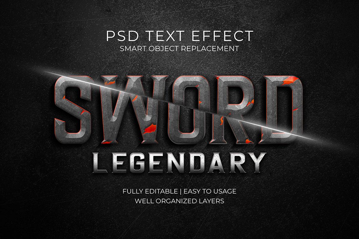 14款3D立体标题徽标设计PS样式模板素材 Text Effect Template插图