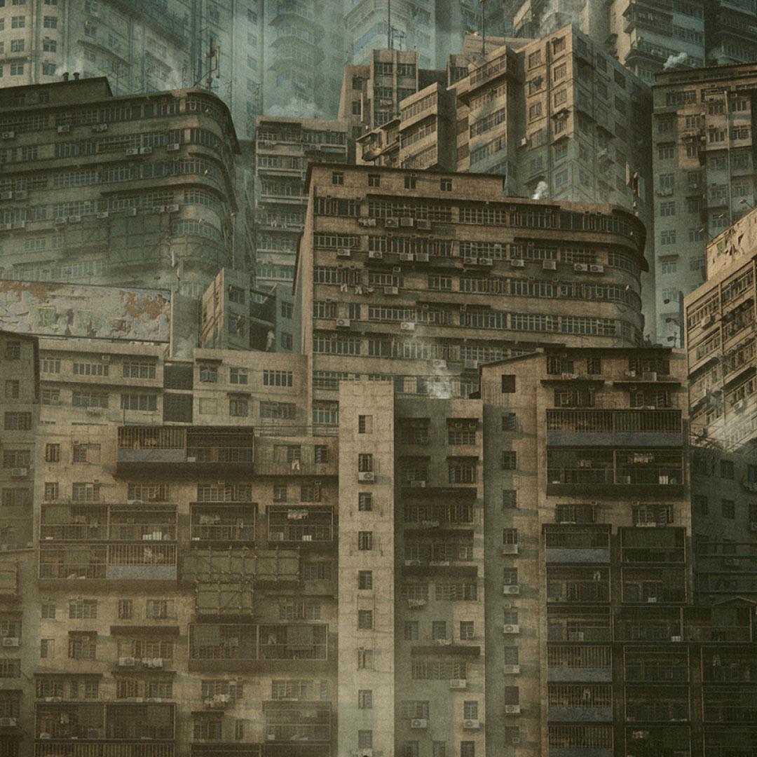 科幻电影都市贫民窟建筑设计3D模型素材 Kitbash3D – Future Slums插图1