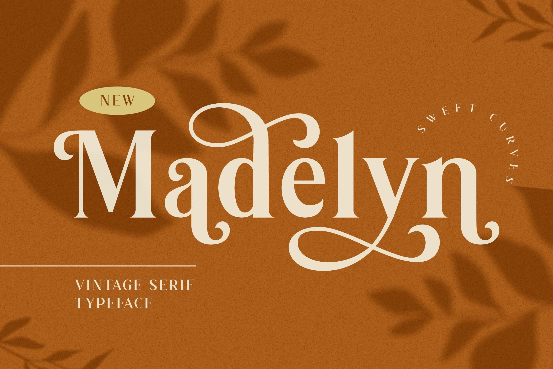 优雅复古海报画册杂志Logo标题衬线英文装饰字体素材 Madelyn Vintage Serif Font插图