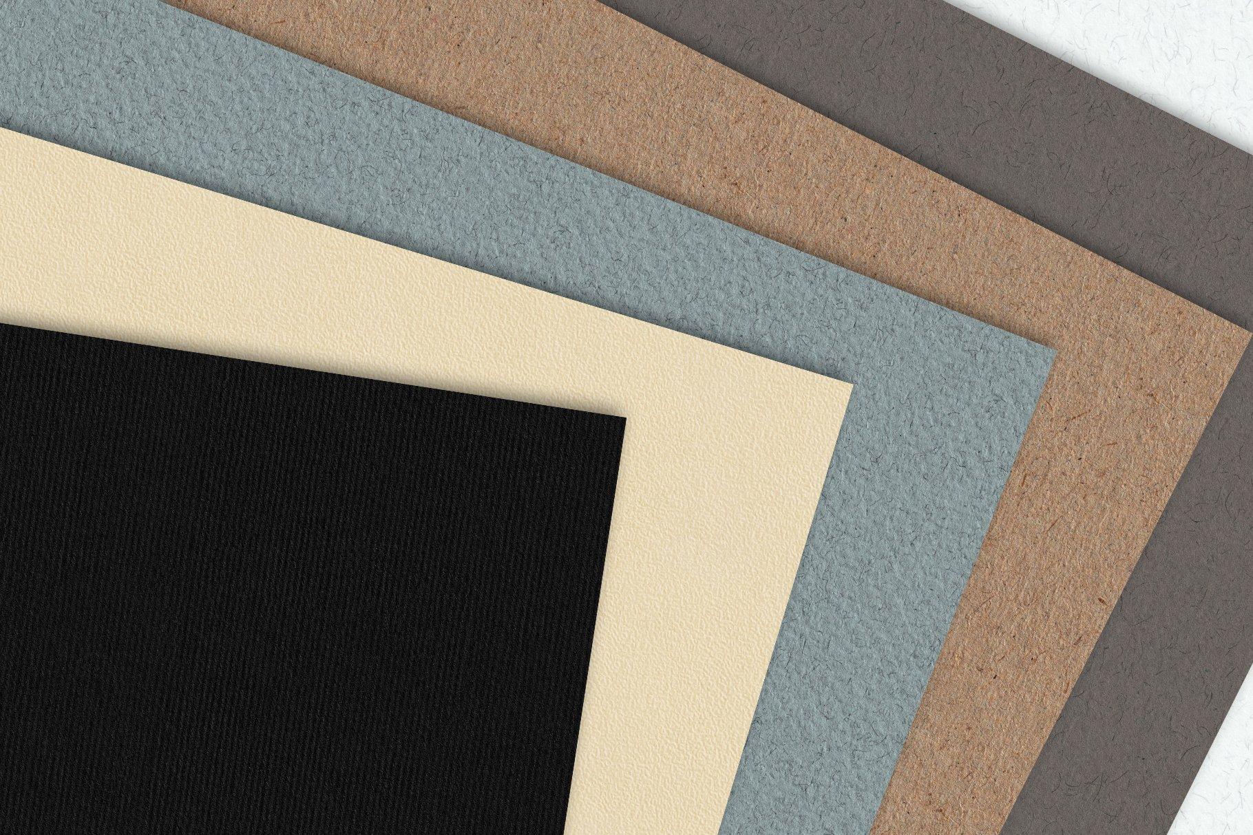 30款复古牛皮纸纸质纹理印刷品设计背景图片素材 Watercolor Paper Texture Collection插图2