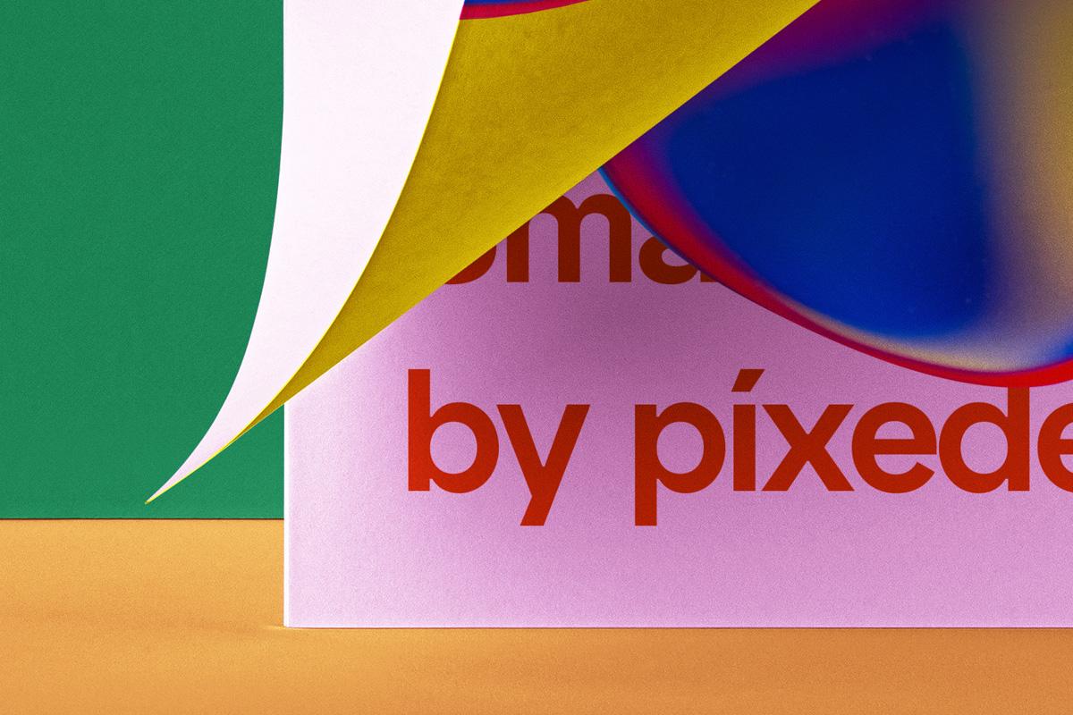 折叠海报传单设计展示贴图PSD样机模板 Folded Letter Psd Paper Mockup插图2