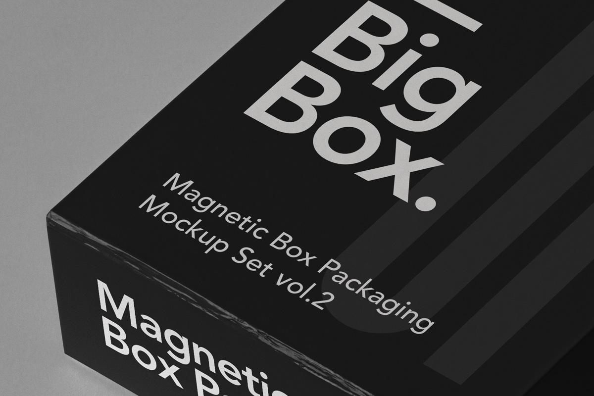 奢华带磁性产品包装盒设计PSD样机合集 Magnetic Psd Box Packaging Mockup Set 2插图3