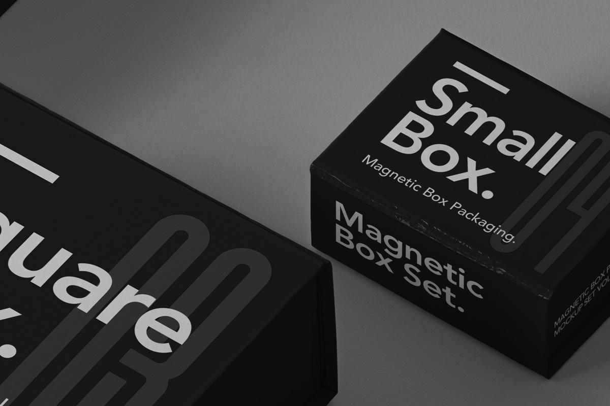 奢华带磁性产品包装盒设计PSD样机合集 Magnetic Psd Box Packaging Mockup Set 2插图4