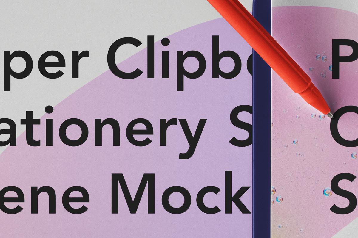 优雅办公餐厅菜单剪贴板设计PSD样机模板 Paper Clipboard Psd Mockup Scene插图4