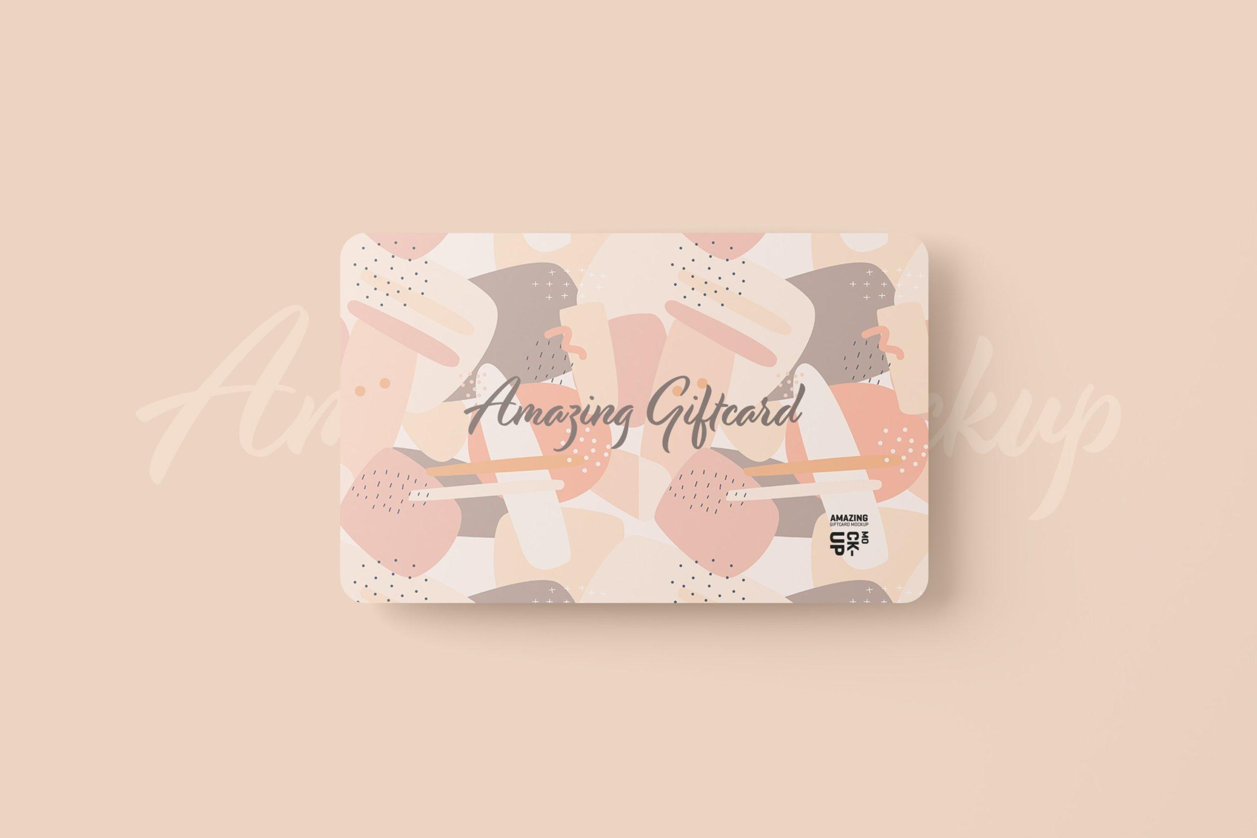 11款名片礼品卡设计展示贴图样机模板 Gift Card Mockup插图1