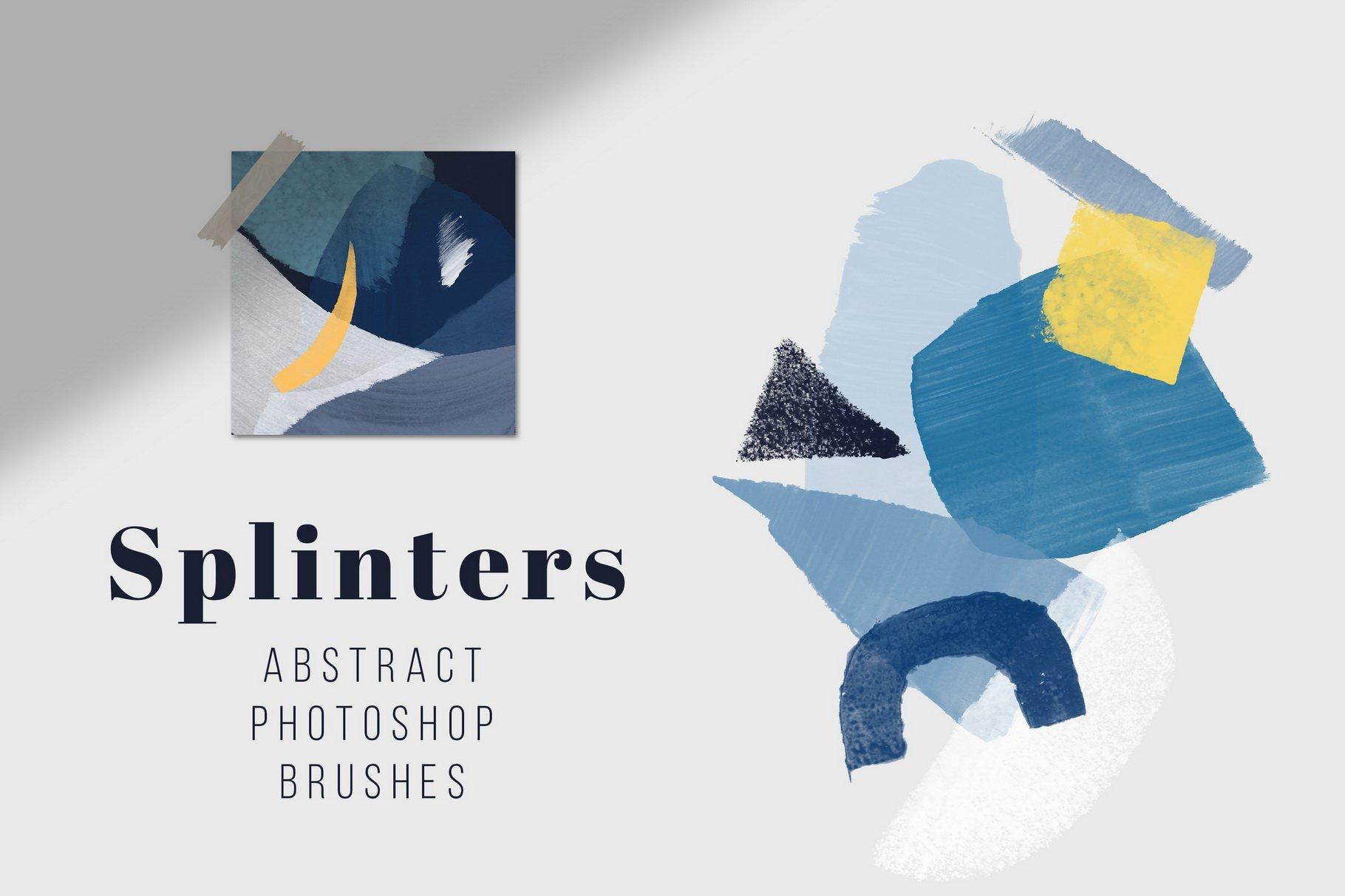 775款艺术气息水彩水墨丙烯酸绘画效果PS图章笔刷素材 Photoshop Stamp Brushes Bundle 2020插图5