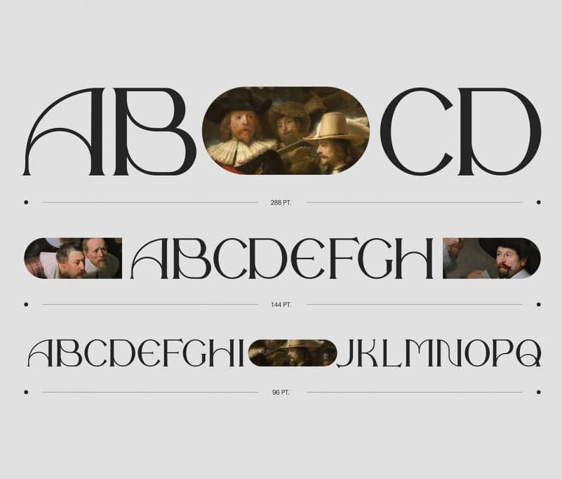 经典优雅杂志海报标题徽标Logo设计衬线英文字体素材 The Night Watch Font插图1