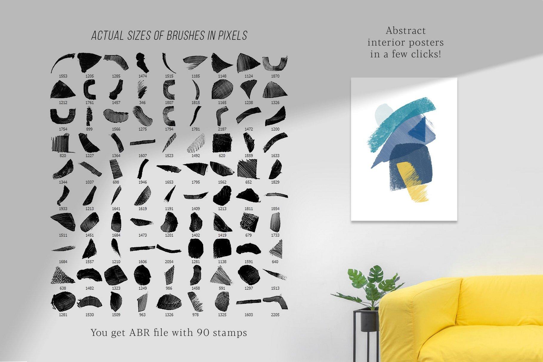 775款艺术气息水彩水墨丙烯酸绘画效果PS图章笔刷素材 Photoshop Stamp Brushes Bundle 2020插图7