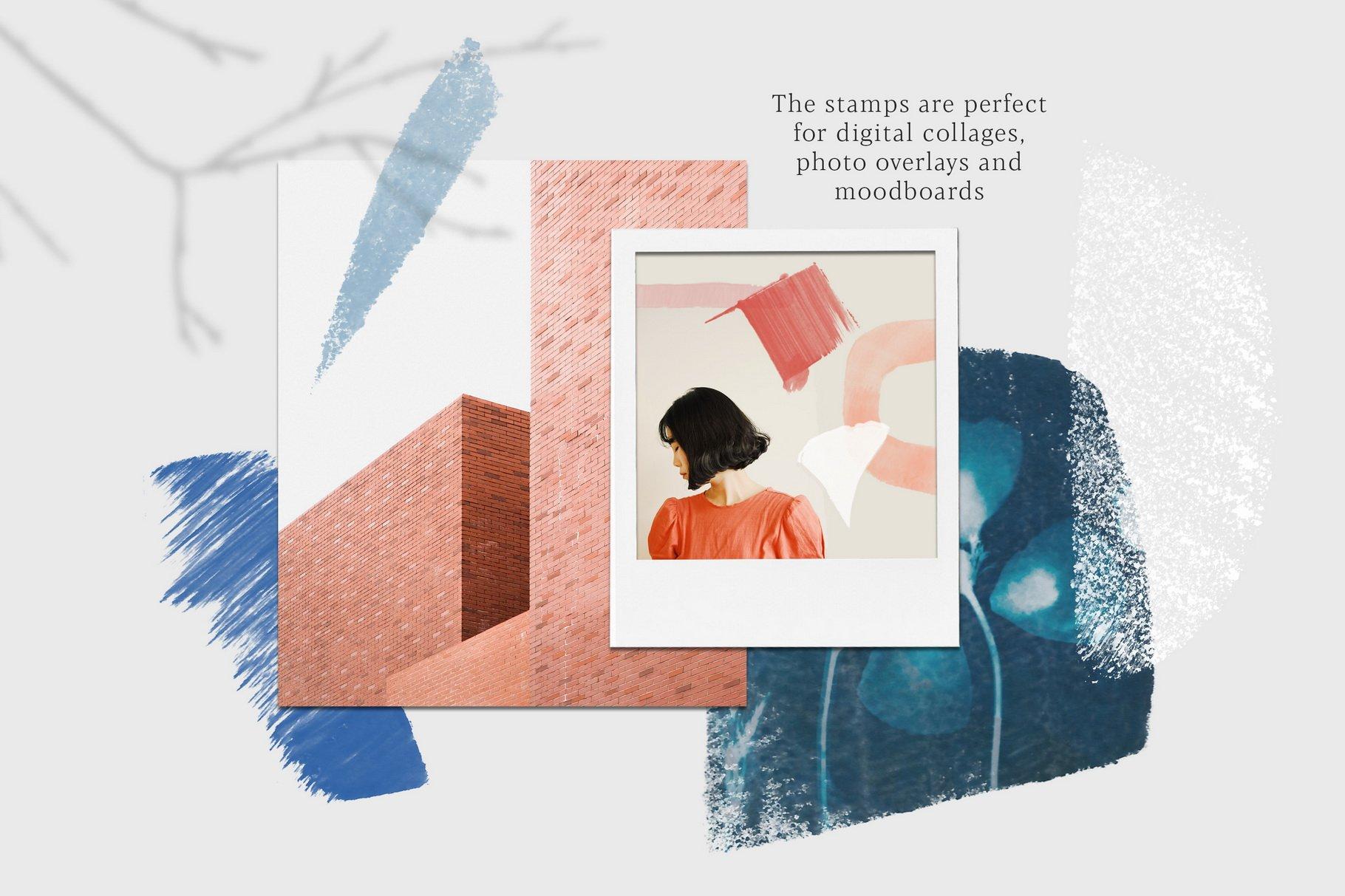 775款艺术气息水彩水墨丙烯酸绘画效果PS图章笔刷素材 Photoshop Stamp Brushes Bundle 2020插图8