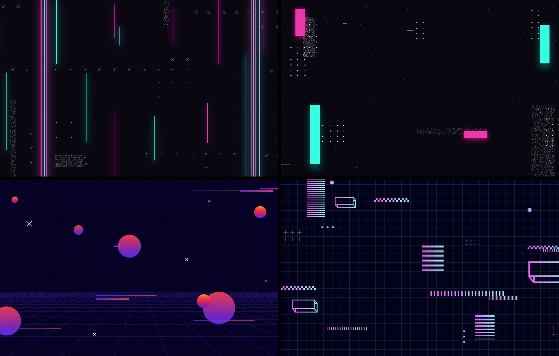15款炫彩科幻未来潮流赛博朋克海报设计背景PS素材 Cyberpunk Backgrounds插图1