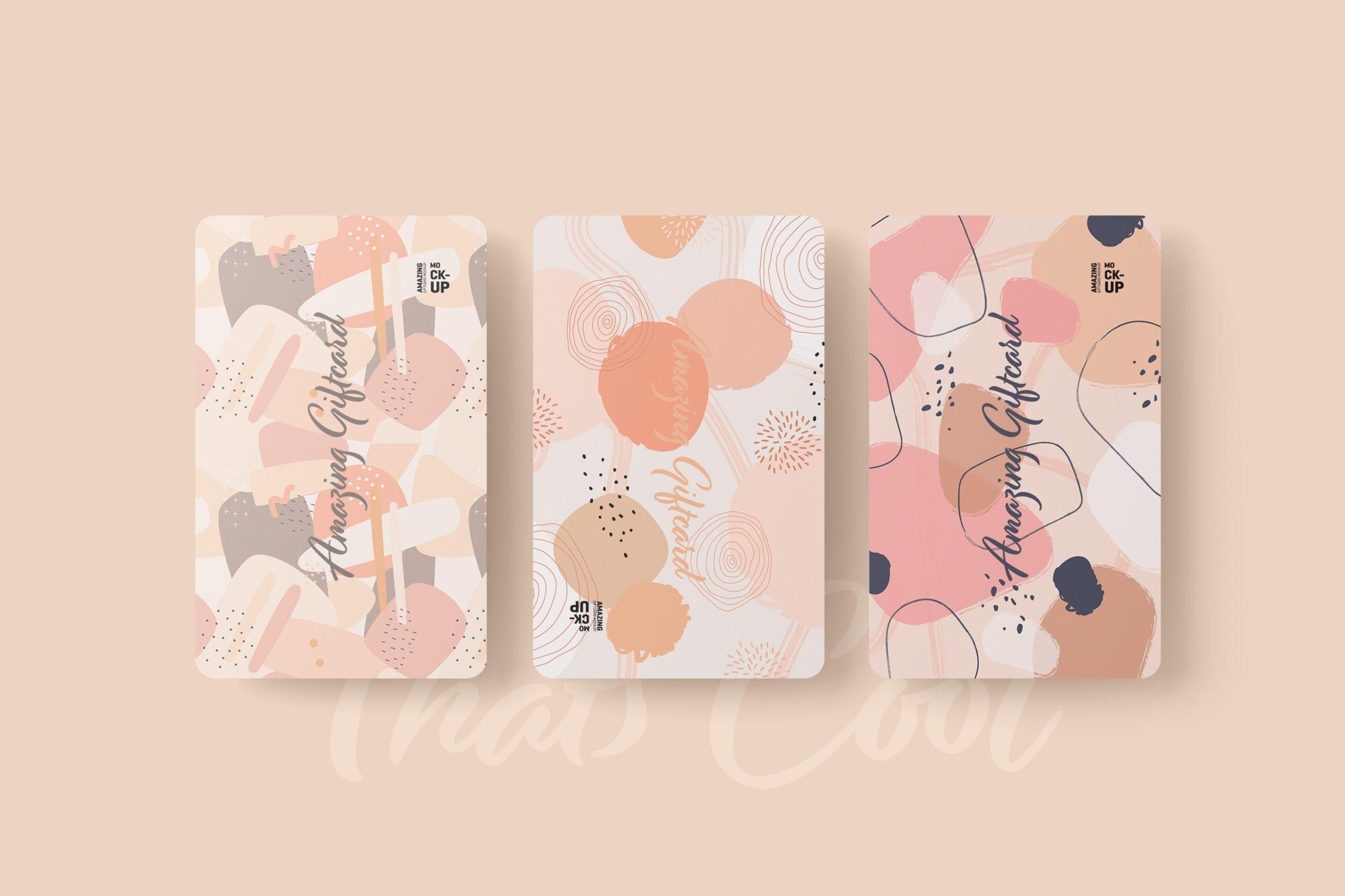 11款名片礼品卡设计展示贴图样机模板 Gift Card Mockup插图2