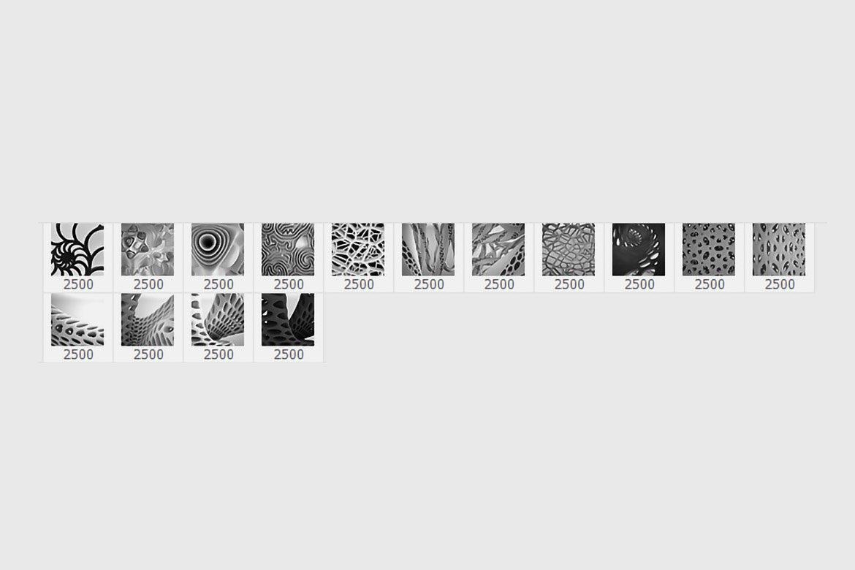 15款抽象有机纹理PS印章笔刷素材 15 Organic Photoshop Stamp Brushes插图2