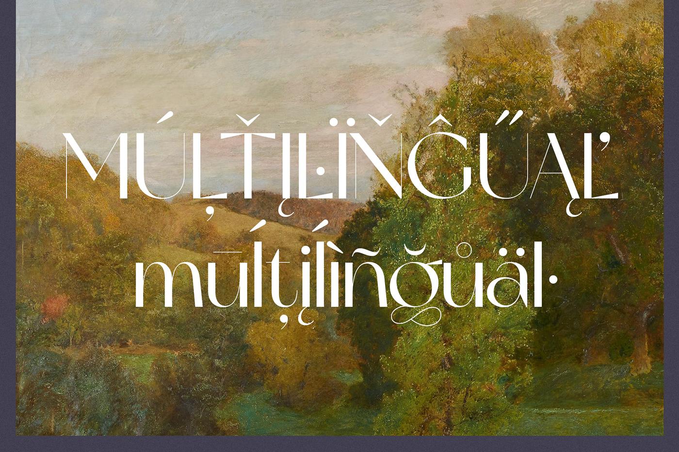 现代时尚杂志标题徽标Logo设计无衬线英文字体素材 Miracle Typeface插图3