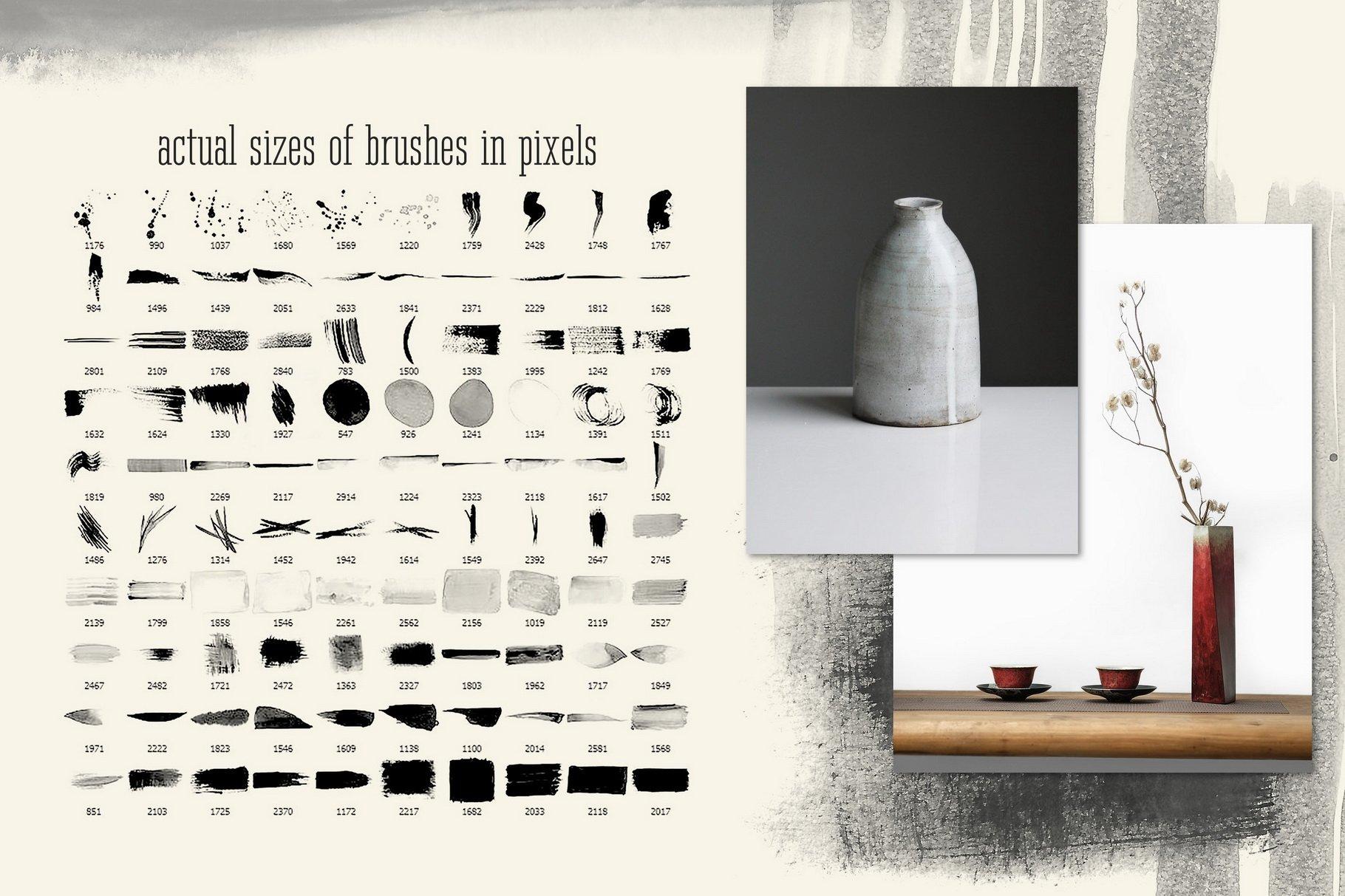 775款艺术气息水彩水墨丙烯酸绘画效果PS图章笔刷素材 Photoshop Stamp Brushes Bundle 2020插图11
