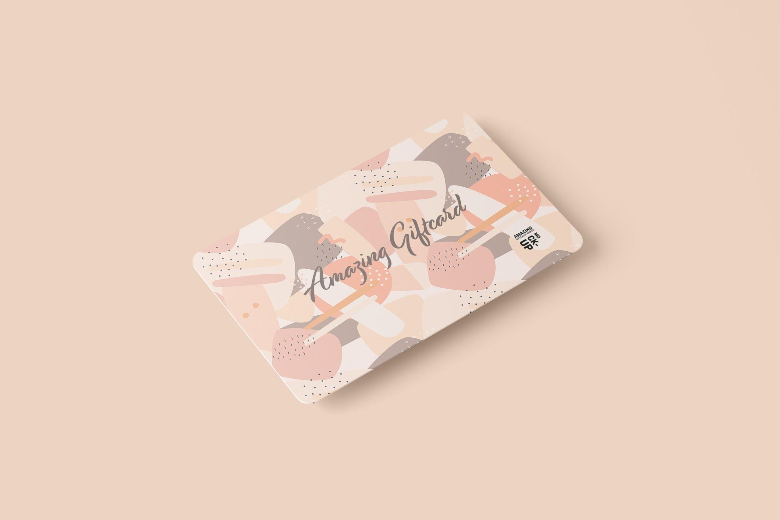 11款名片礼品卡设计展示贴图样机模板 Gift Card Mockup插图3