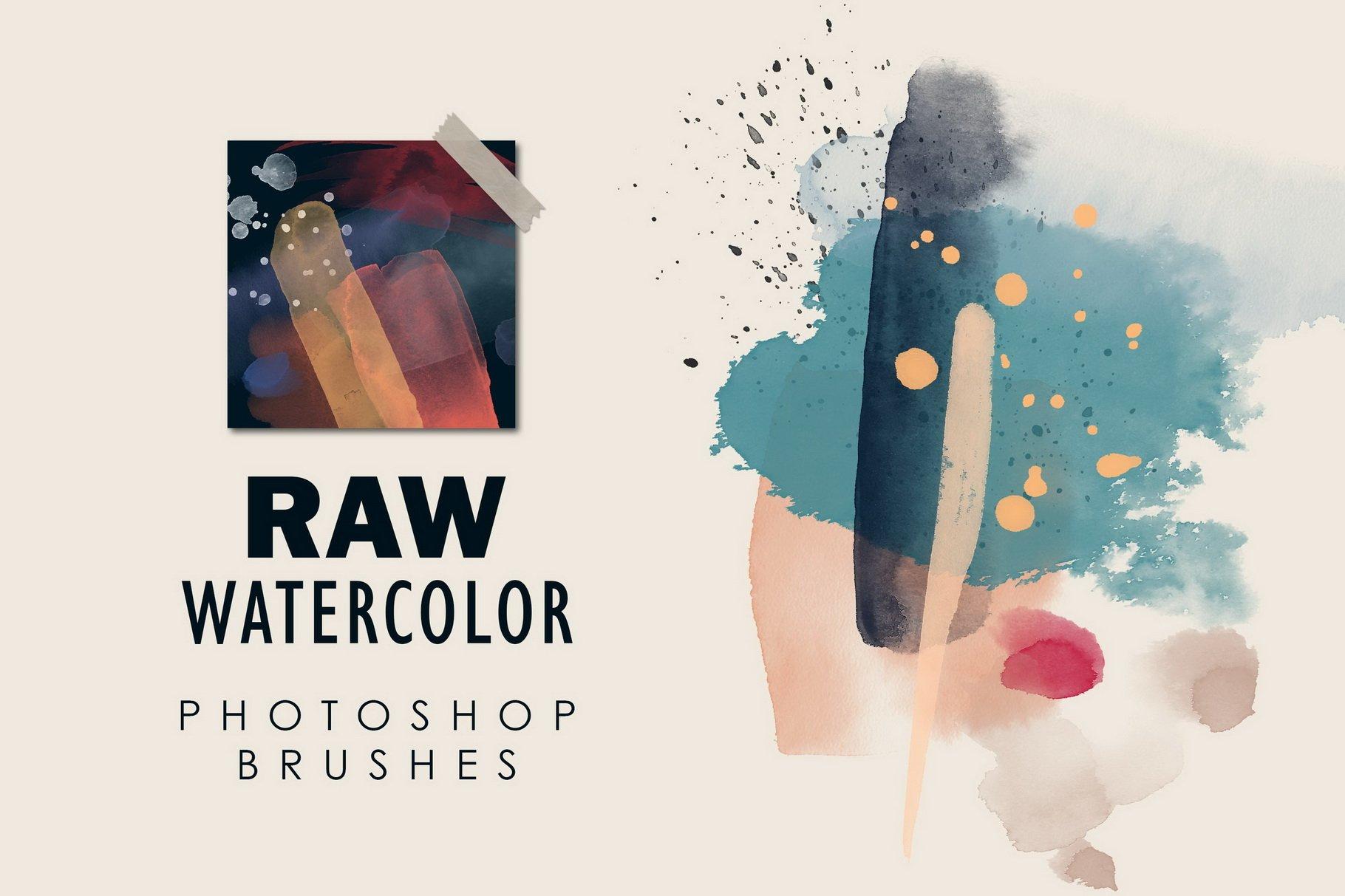 775款艺术气息水彩水墨丙烯酸绘画效果PS图章笔刷素材 Photoshop Stamp Brushes Bundle 2020插图13