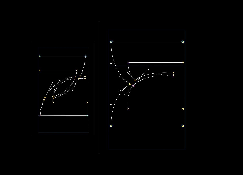 时尚潮流弯曲杂志海报标题徽标Logo文字设计无衬线英文字体 Basylisk Typeface插图3