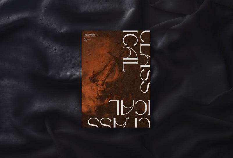 经典优雅杂志海报标题徽标Logo设计衬线英文字体素材 The Night Watch Font插图3