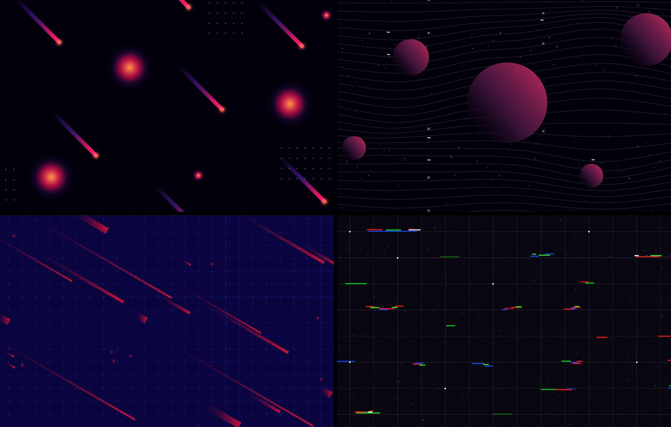 15款炫彩科幻未来潮流赛博朋克海报设计背景PS素材 Cyberpunk Backgrounds插图3