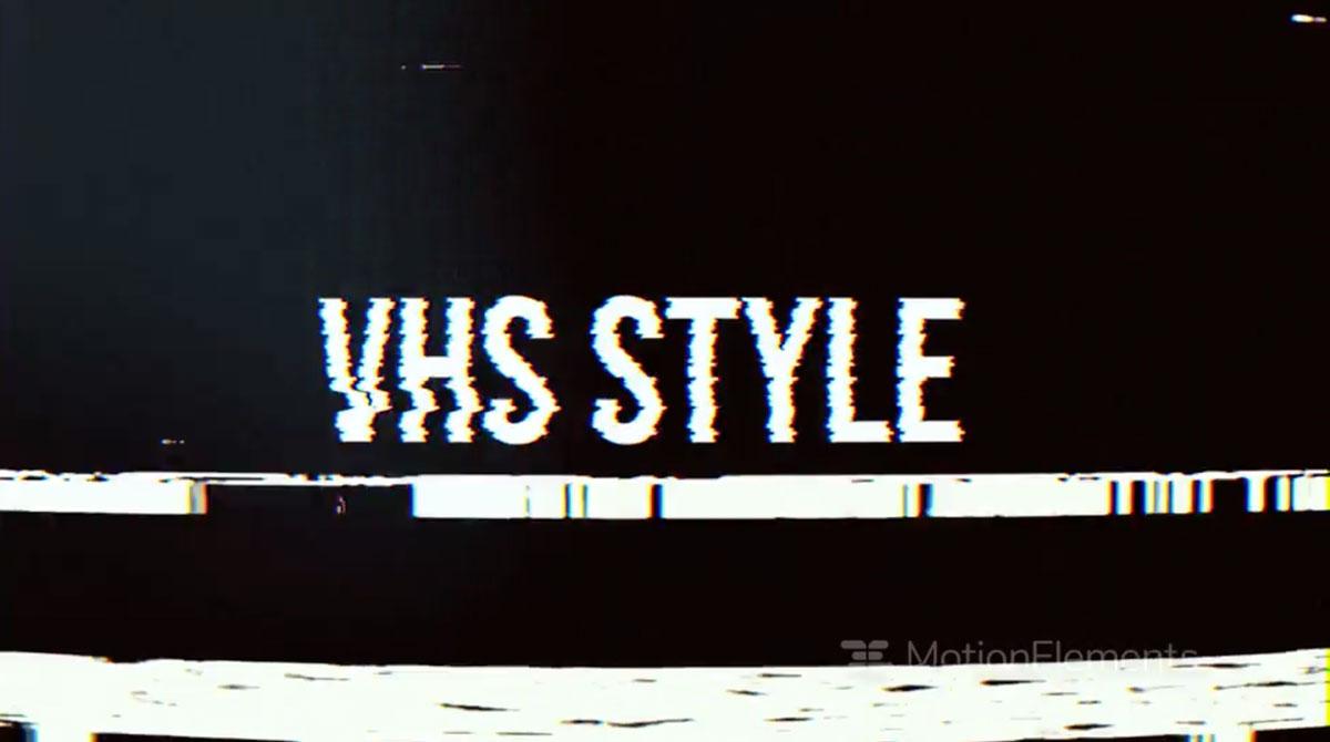 潮流像素故障风标题徽标Logo设计AE视频模板素材 VHS Style Opener插图1