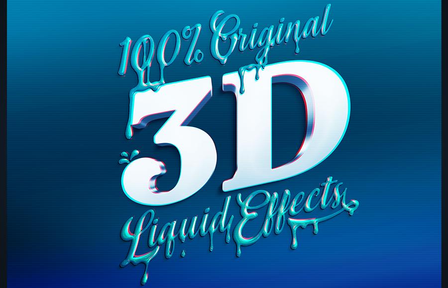 10款金色质感液体3D文本效果PS样机模板素材 Brilliant 3D Liquid Effects插图3