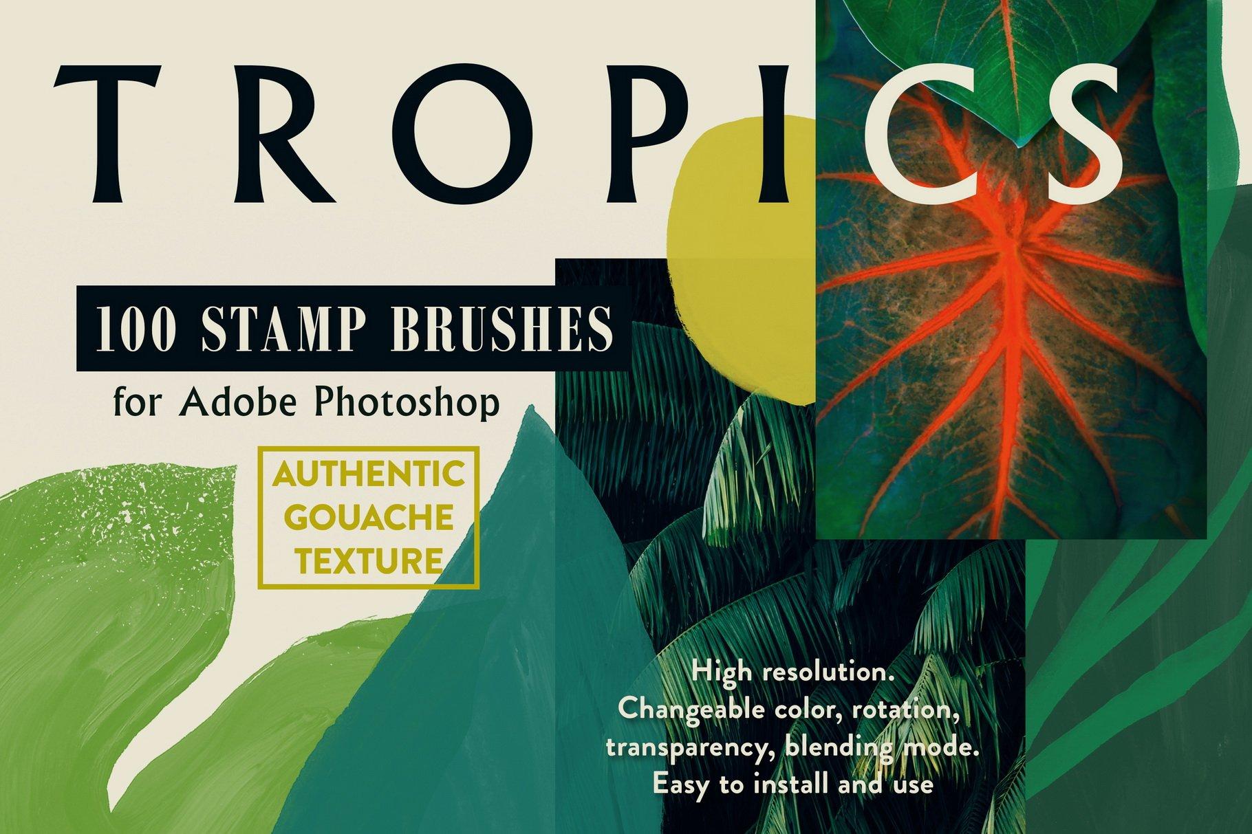775款艺术气息水彩水墨丙烯酸绘画效果PS图章笔刷素材 Photoshop Stamp Brushes Bundle 2020插图18