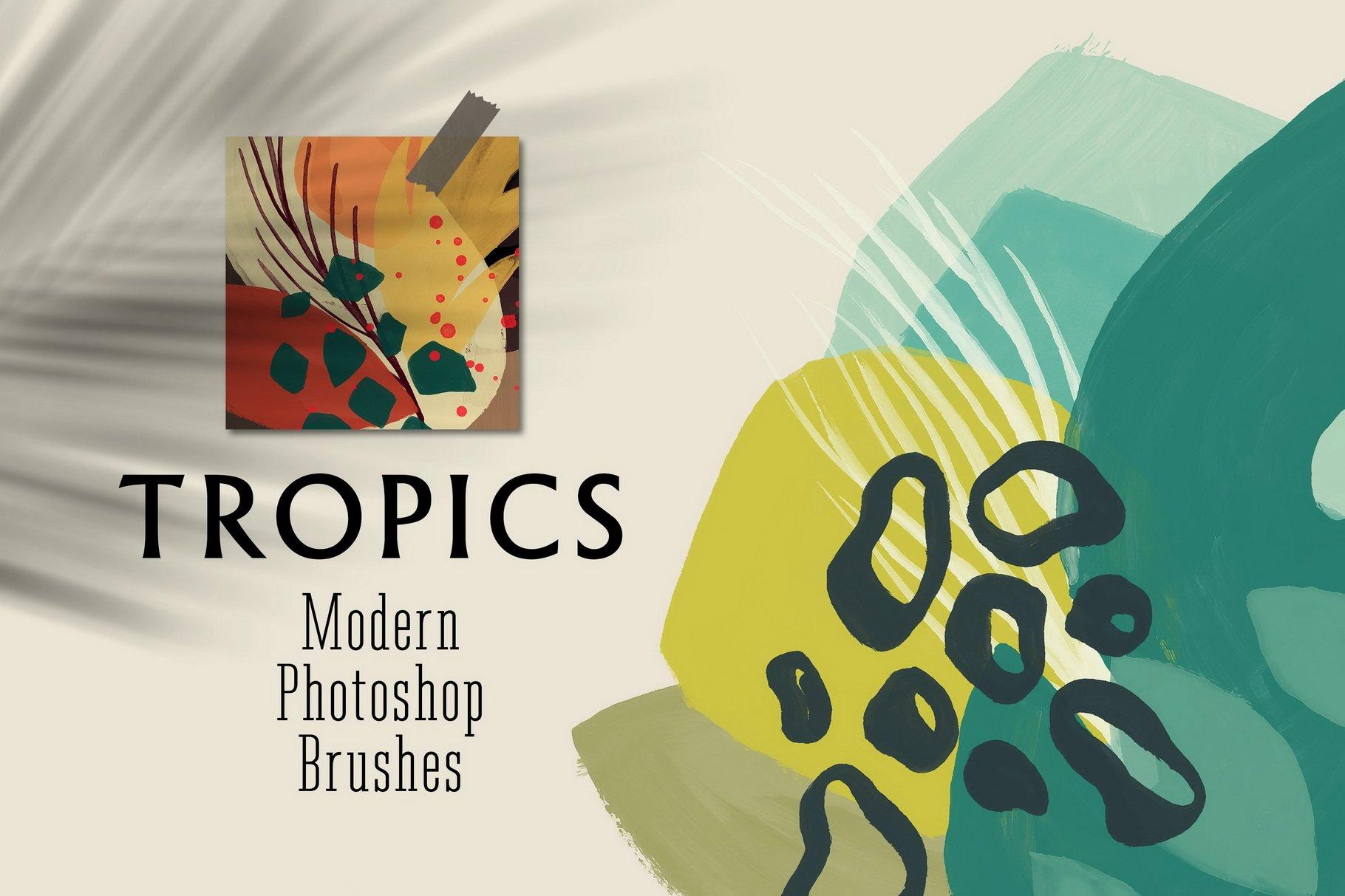 775款艺术气息水彩水墨丙烯酸绘画效果PS图章笔刷素材 Photoshop Stamp Brushes Bundle 2020插图17
