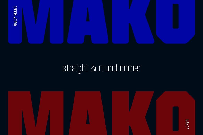现代时尚科幻未来海报标题Logo无衬线英文字体素材 Mako (Elements Edition)插图4
