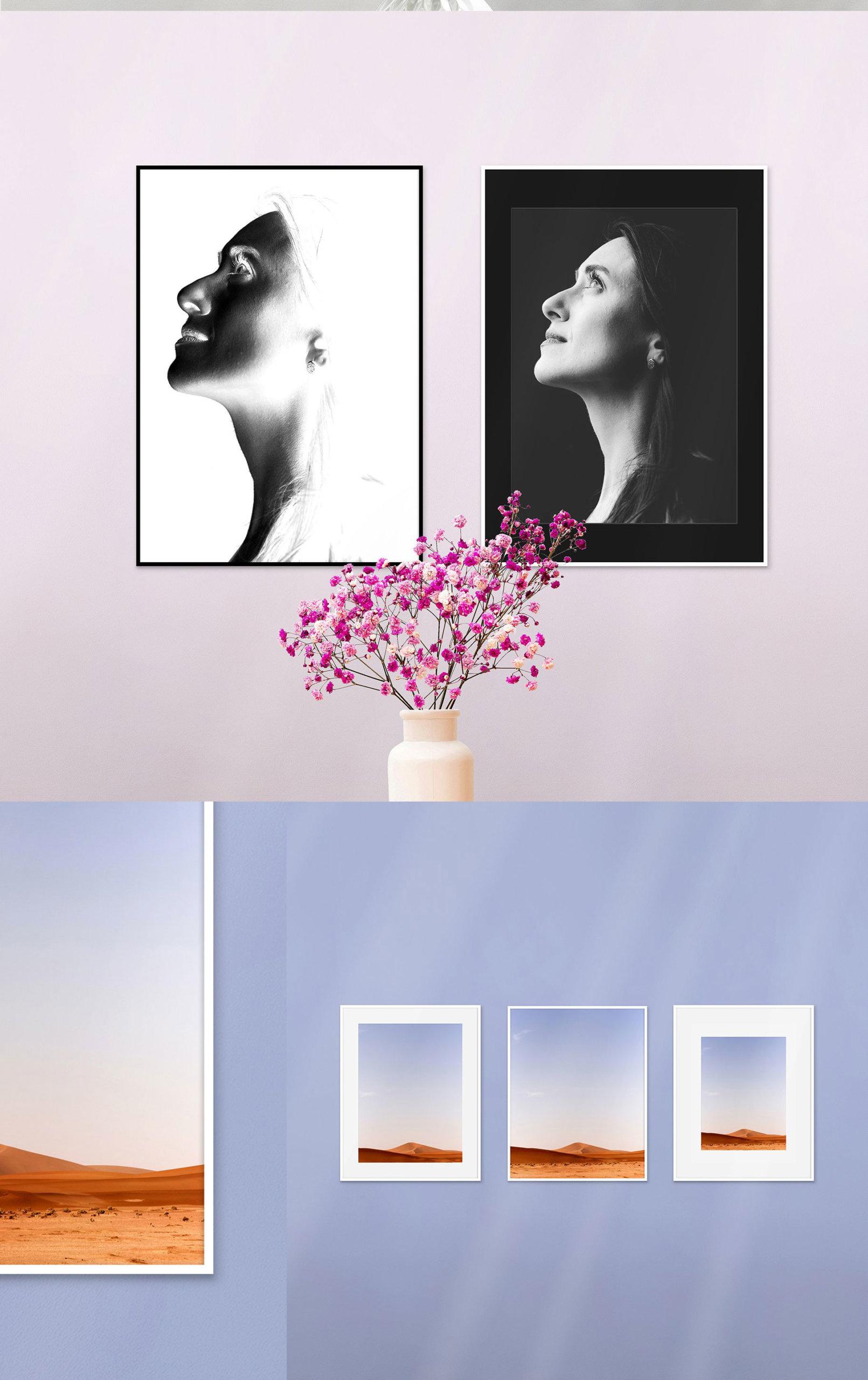 时尚绘画艺术品相片展示相框框架样机模板 Automatic Frame Mock-up Creator插图8