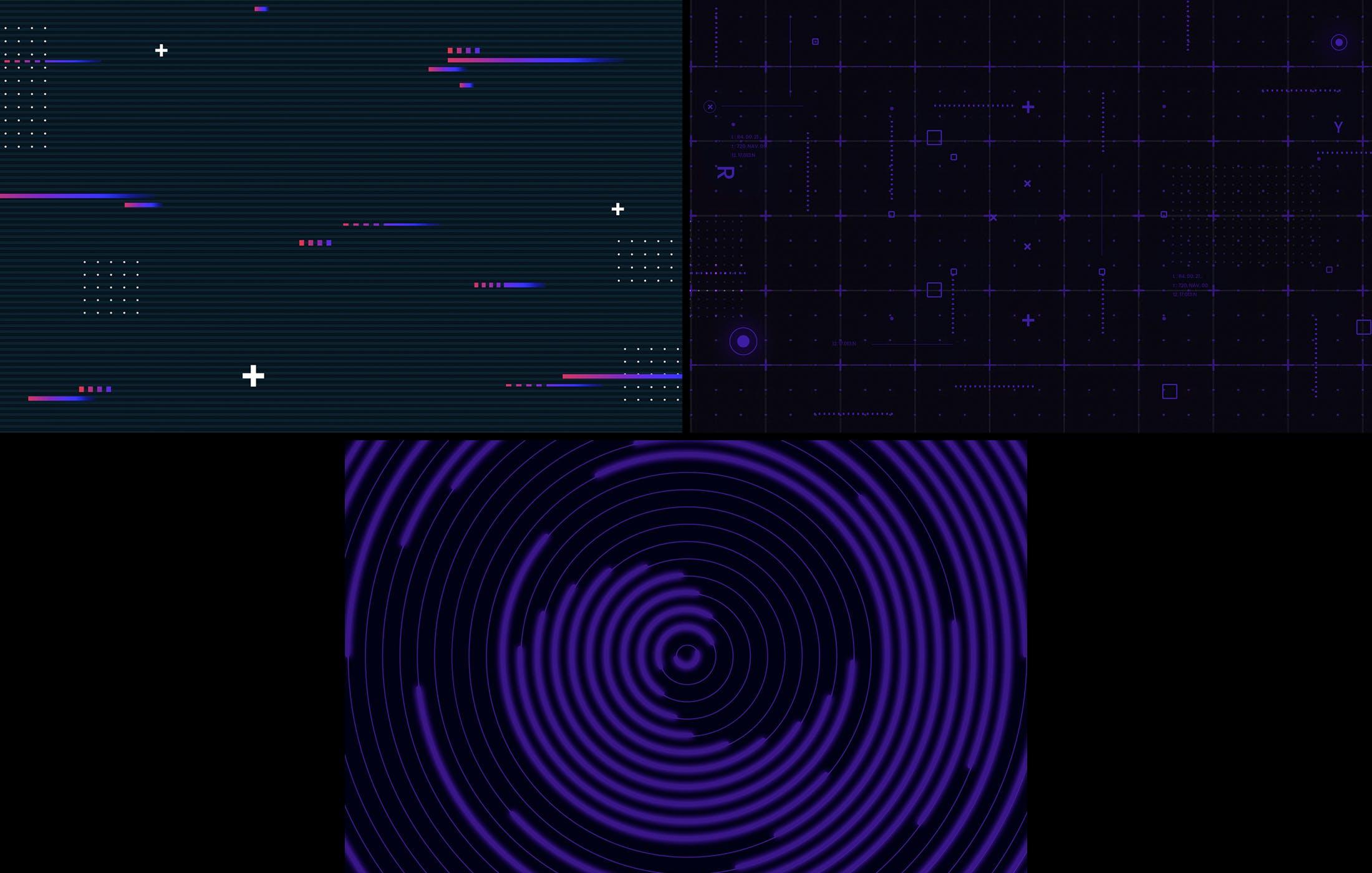 15款炫彩科幻未来潮流赛博朋克海报设计背景PS素材 Cyberpunk Backgrounds插图4