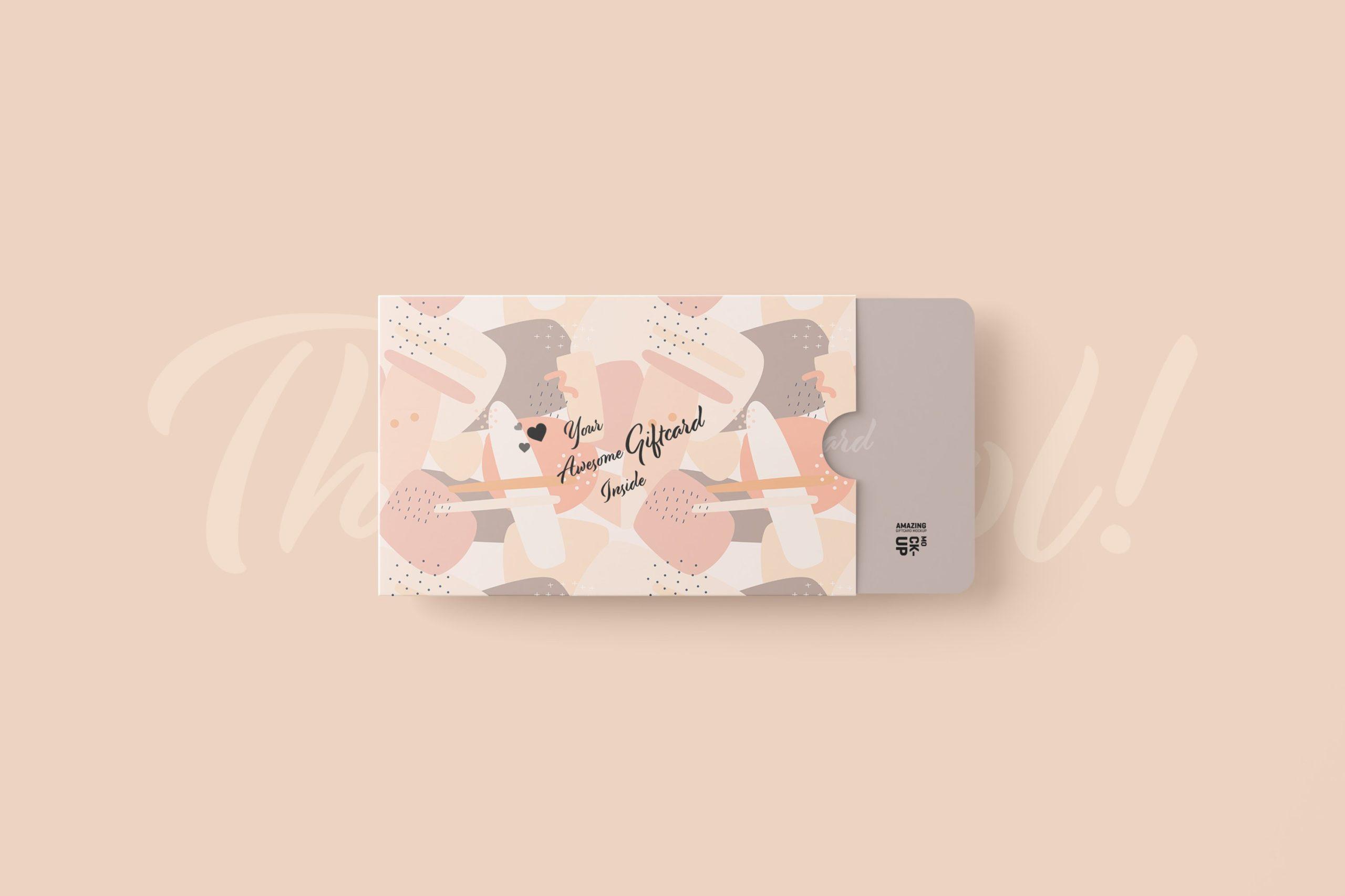 11款名片礼品卡设计展示贴图样机模板 Gift Card Mockup插图5