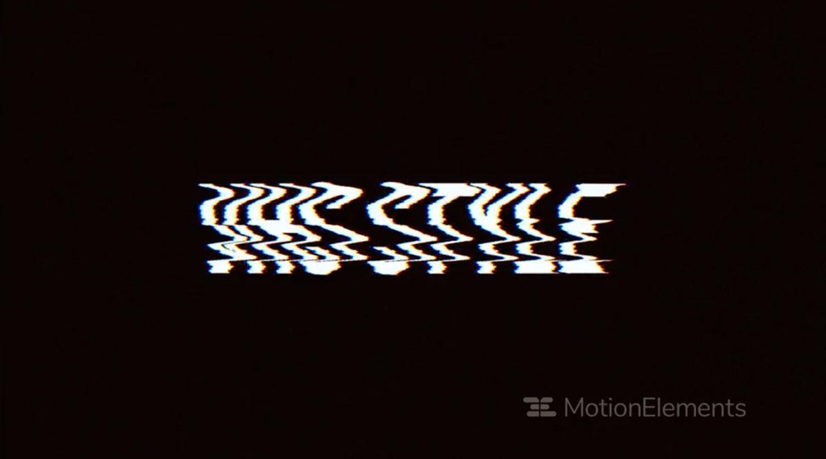 潮流像素故障风标题徽标Logo设计AE视频模板素材 VHS Style Opener插图2