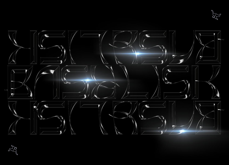 时尚潮流弯曲杂志海报标题徽标Logo文字设计无衬线英文字体 Basylisk Typeface插图4
