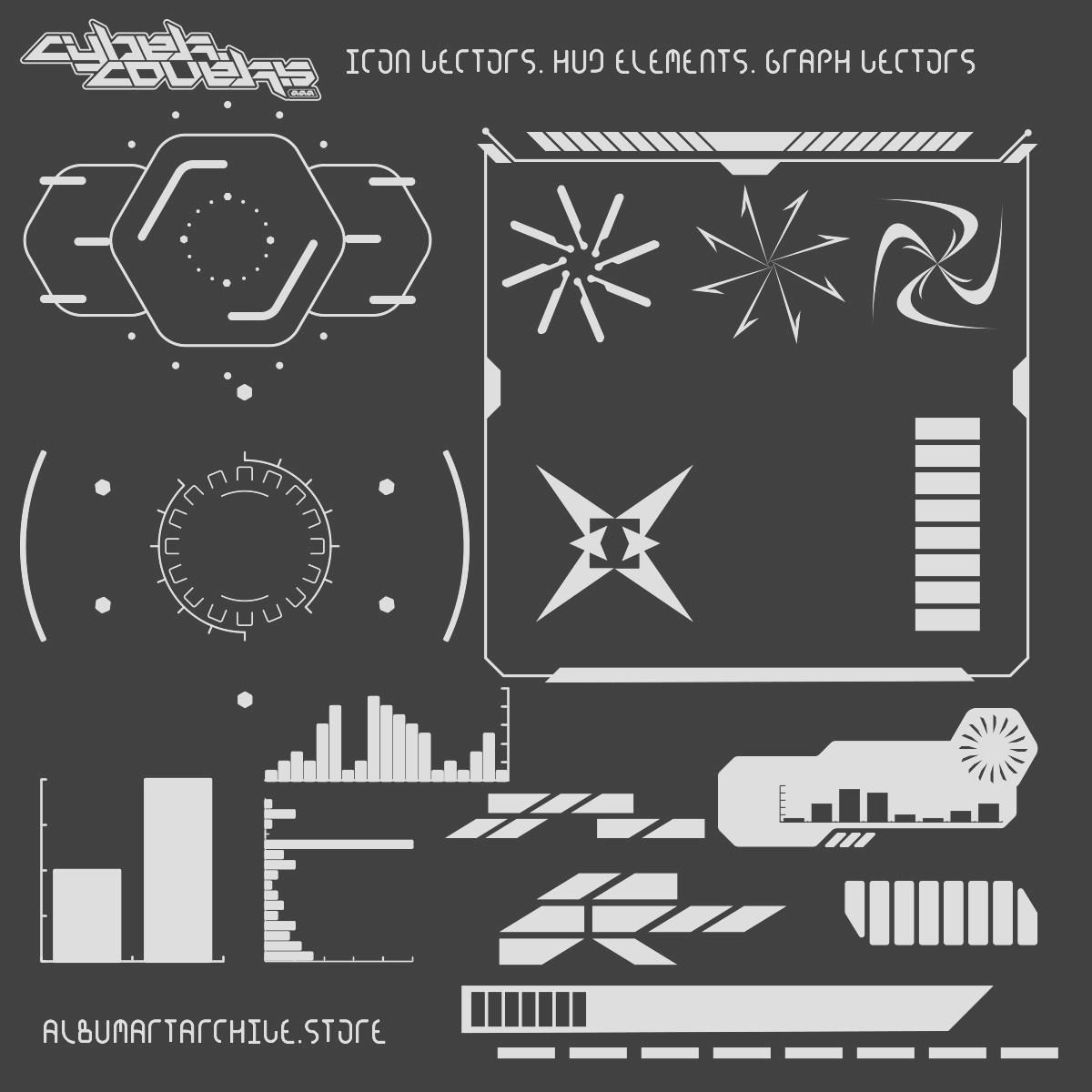 [单独购买] 430多款潮流炫酷音乐专辑CD封面HUD元素设计素材套装 AlbumArtArchive – Cybercovers插图4