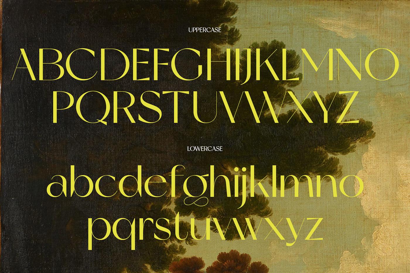 现代时尚杂志标题徽标Logo设计无衬线英文字体素材 Miracle Typeface插图6