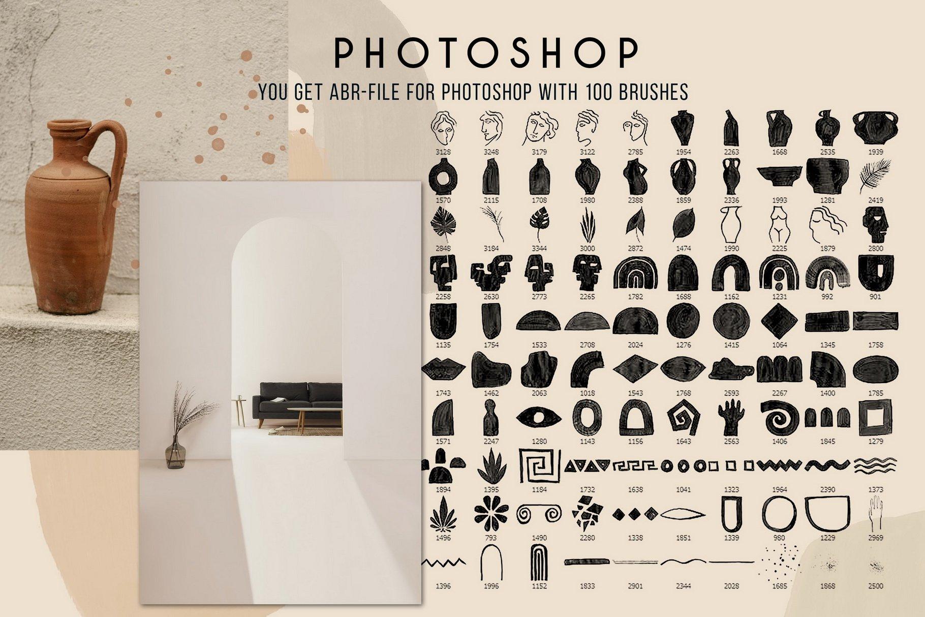 775款艺术气息水彩水墨丙烯酸绘画效果PS图章笔刷素材 Photoshop Stamp Brushes Bundle 2020插图24