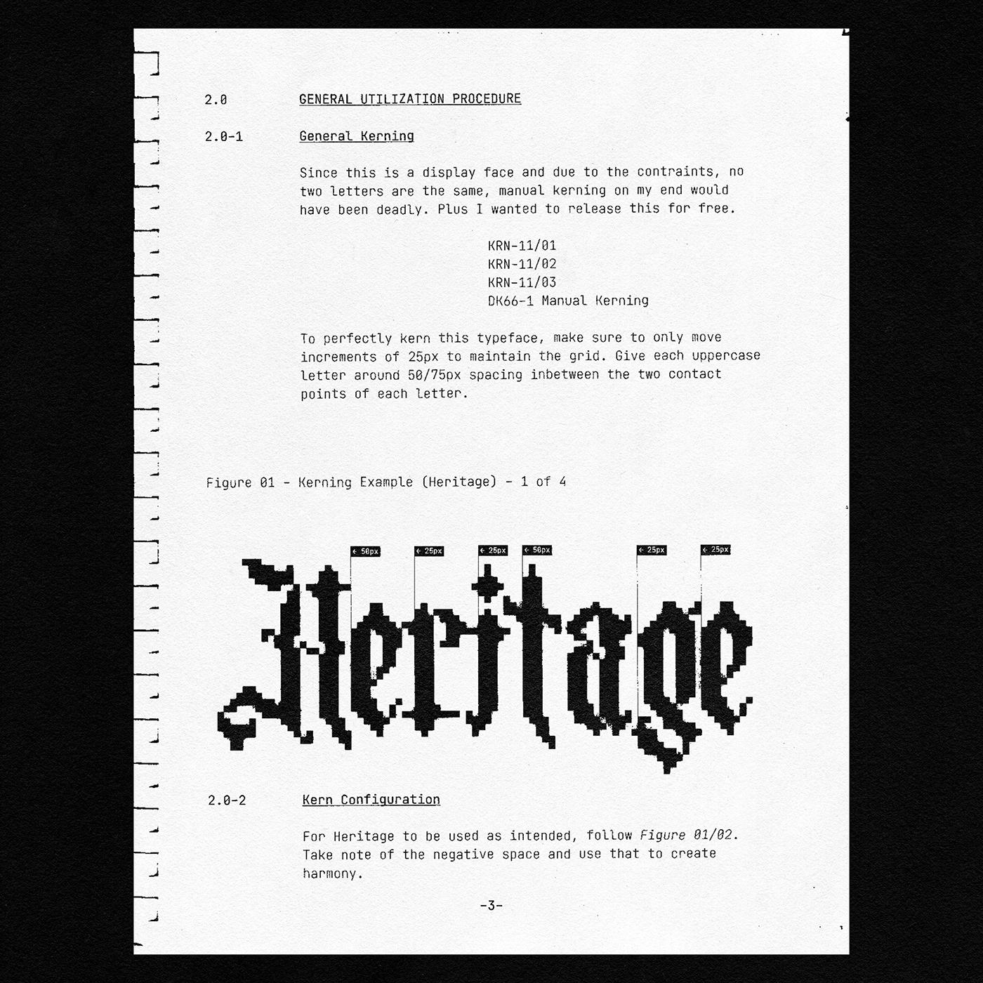 [淘宝购买] 潮流复古像素CRT显示海报标题徽标Logo设计装饰字体素材 Heritage Display Pixel Blackletter插图5