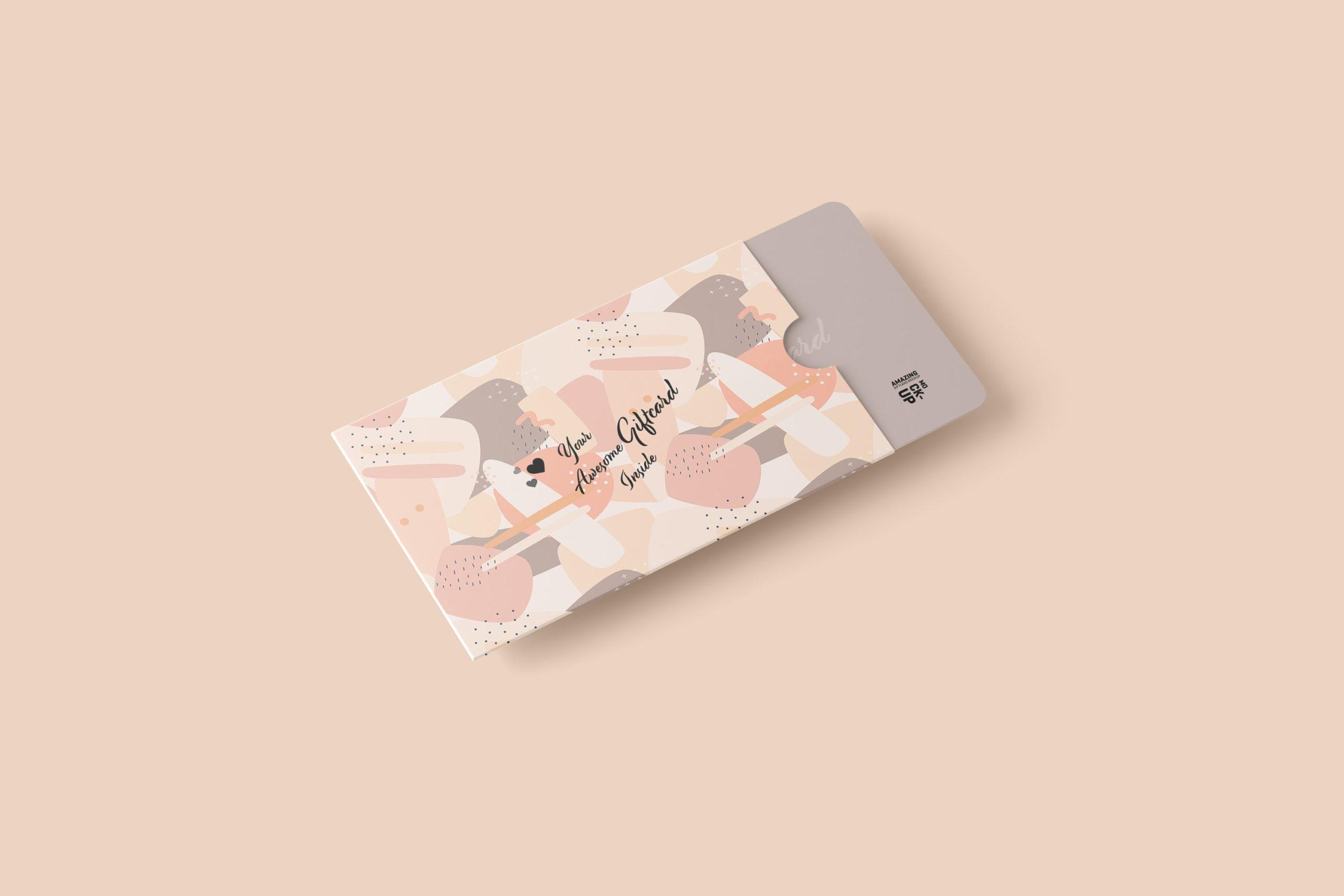 11款名片礼品卡设计展示贴图样机模板 Gift Card Mockup插图6