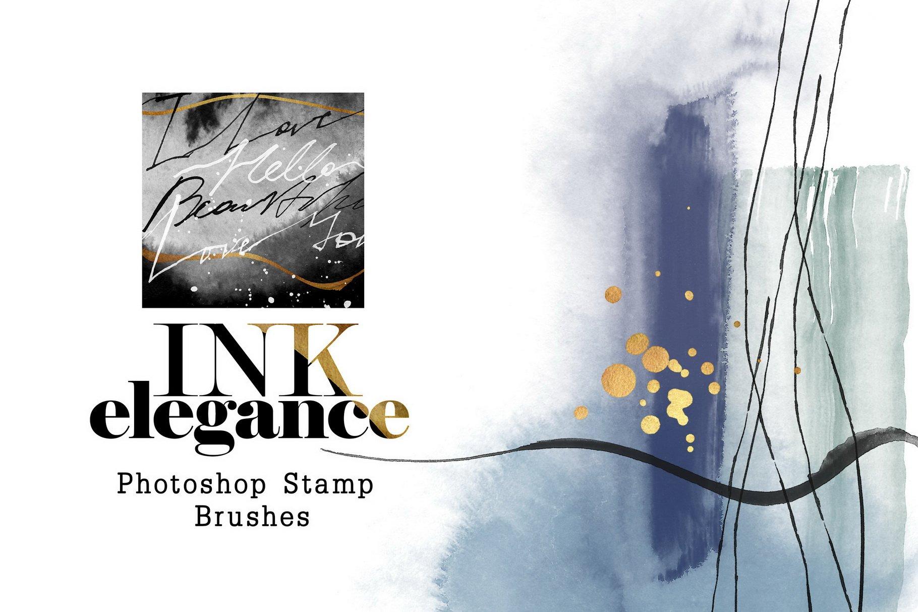 775款艺术气息水彩水墨丙烯酸绘画效果PS图章笔刷素材 Photoshop Stamp Brushes Bundle 2020插图27