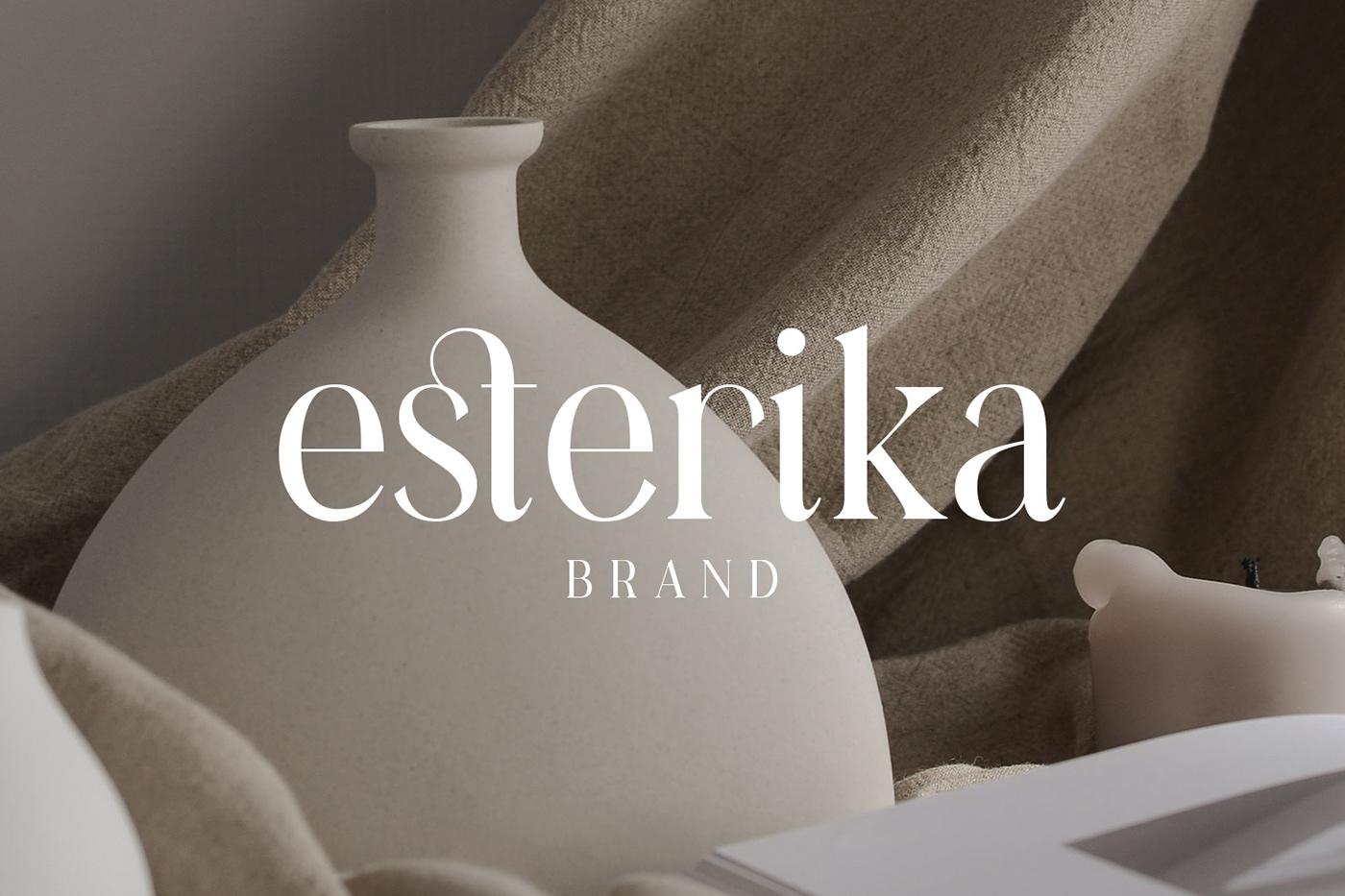 现代时尚连字海报标题徽标Logo设计衬线英文字体素材 Casanova Serif Display Font插图6