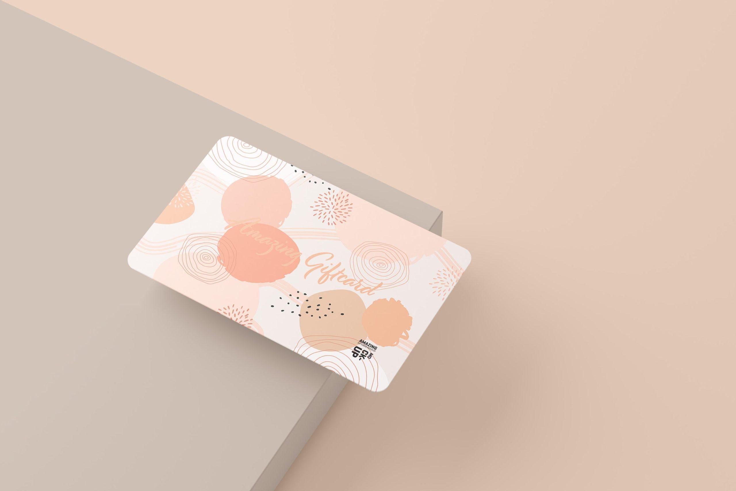11款名片礼品卡设计展示贴图样机模板 Gift Card Mockup插图7