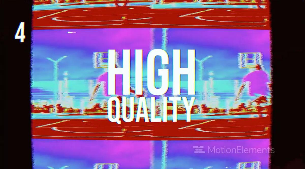 潮流像素故障风标题徽标Logo设计AE视频模板素材 VHS Style Opener插图4