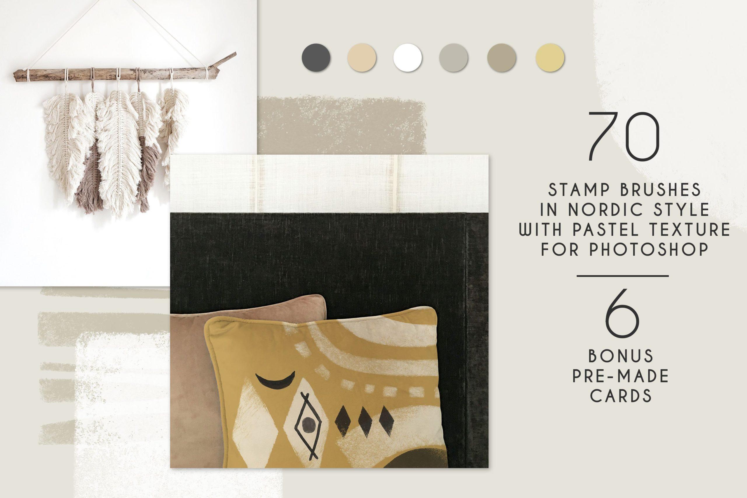 775款艺术气息水彩水墨丙烯酸绘画效果PS图章笔刷素材 Photoshop Stamp Brushes Bundle 2020插图32